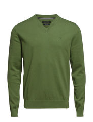 Pullover, v-neck - spring leaves