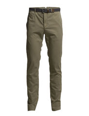 Chino, slim fit, narrow leg, backpo - gravel
