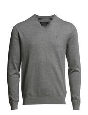 Pullover, v-neck - soft stone