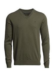 Pullover, v-neck - thyme