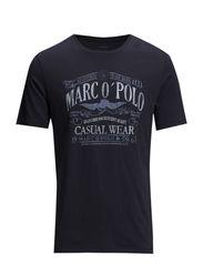 T-Shirt, short-sleeve, round-neck, - chalk blue