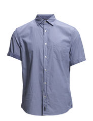 Spread collar,short sleeve,one ches - combo