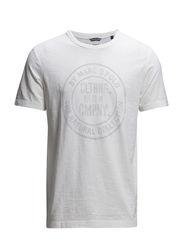 T-shirt, short-sleeve, round-neck, - egg white