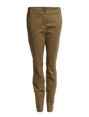 Pants, low crotch, loose on thigh, - khaki