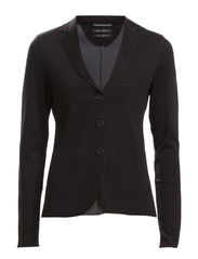 Jersey-blazer, double-face - black
