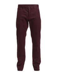 Chino, slim fit, narrow leg, button - dark grape