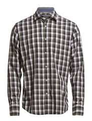 Shirt, long sleeve, spread collar, - anthrazit