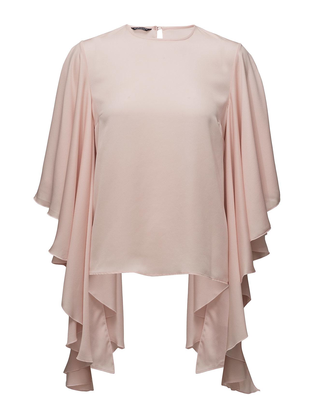 Sleevecut Ruffle Shirt Marciano by GUESS Langærmede til Damer i Peach Whip