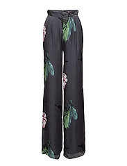 FLUID PANTS - BLK MARCO FLOWER