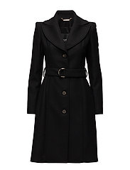 WOOLED TRENCH - JET BLACK W/ FROS
