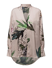 SLEEVECUT BLOUSE - PINK MACRO FLOWER