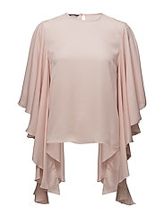 SLEEVECUT RUFFLE SHIRT - PEACH WHIP