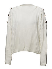 LS BN ELDA SWEATER - OPTIC WHITE