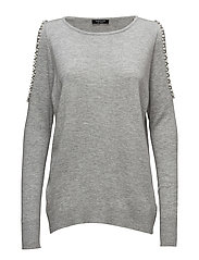 LS RN PRISCA SWEATER - HEATHER GREY