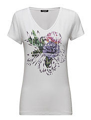 FLOREAL V NECK T-SHIRT - TRUE WHITE