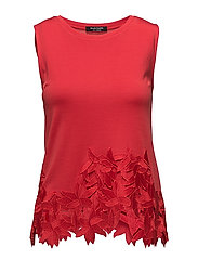 S CN LACE TOP - NECESSARY RED