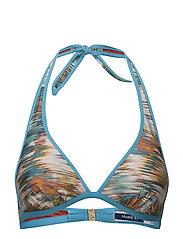 Juliette bikini triangle bra - CARIBBEAN BLUE