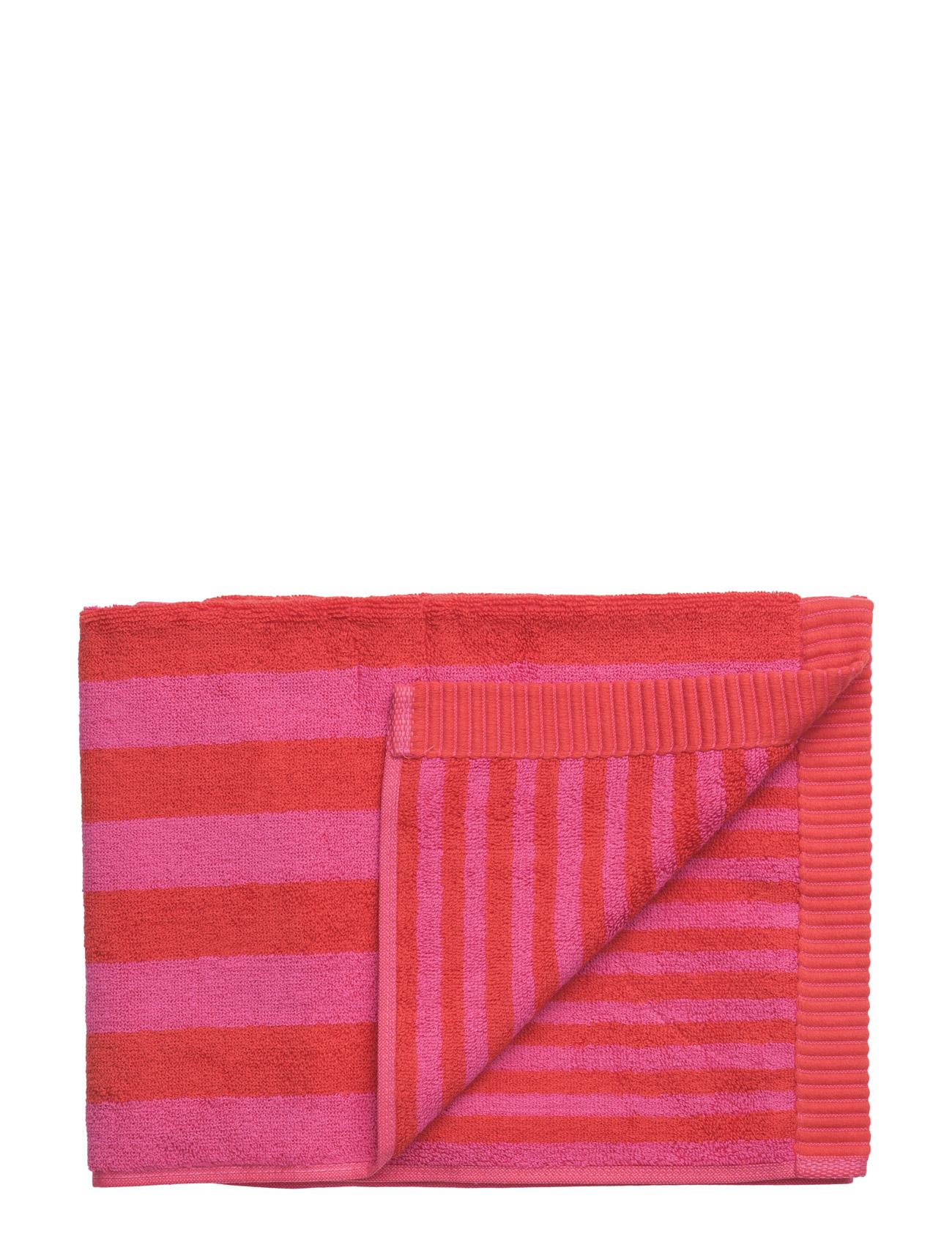 Kaksi Raitaa Guest Towel Marimekko Home Hjem til Herrer i Rød, Rød