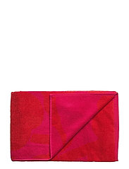 UNIKKO BATH TOWEL - RED, FUCHSIA