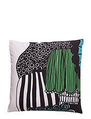 SIIRTOLAPUUTARHA CUSHION COVER - WHITE,GREEN