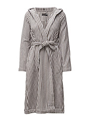 SIRO MARI BATHROBE - GREY, WHITE
