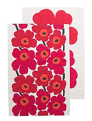 UNIKKO TEA TOWEL 2PCS - WHITE, RED, ORANGE