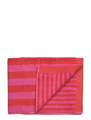 KAKSI RAITAA HAND TOWEL - RED, RED