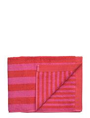 KAKSI RAITAA BATH TOWEL - RED, PINK