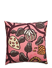 TIARA CUSHION COVER - PINK, YELLOW,WINE RED