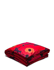 UNIKKO DUVET COVER - PLUM, RED, ORANGE, DARK BLUE