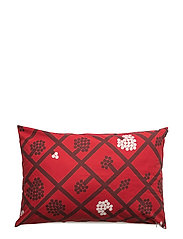 SPALJÉ CUSHION COVER - RED, DARK RED, WHITE