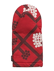 SPALJÉ OVEN MITTEN - RED, DARK RED, WHITE