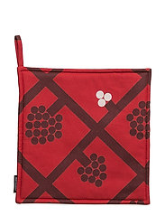 SPALJÉ POT HOLDER - RED, DARK RED, WHITE