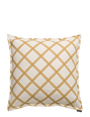 QUILT CUSHION COVER - NATURAL WHITE, GOLD/STRAW