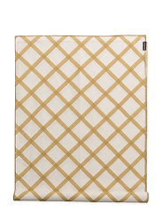 QUILT RUNNER - OFF WHITE, GOLD/STRAW