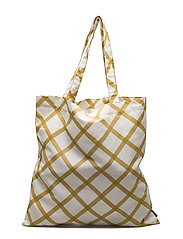 QUILT BAG - NATURAL WHITE, GOLD/STRAW