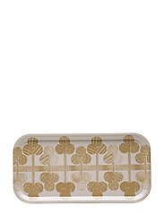 PUU TRAY - NATURAL WHITE, GOLD/STRAW