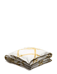 HORTENSIE SATEEN DUVET COVER - ECRU, GOLD, WHITE