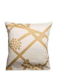 HORTENSIE SATEEN PILLOWCASE - ECRU, GOLD, WHITE