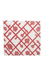 SPALJÉ TEA TOWEL/NAPKIN - WHITE, RED