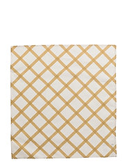 QUILT TEA TOWEL/NAPKIN - NATURAL WHITE, GOLD