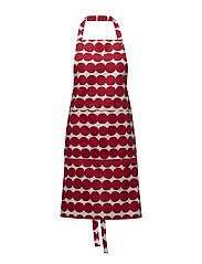 RÄSYMATTO APRON - WHITE, RED