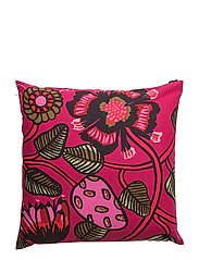 TIARA CUSHION COVER - RED, PINK, GREEN