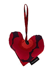 MINI-UNIKKO CHRISTMAS HEART - BLOM,RED,ORANGE,DARK BLUE