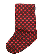 OKKO CHRISTMAS STOCKING - LIGHT RED, RED