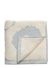 UNIKKO JACQ. HAND TOWEL - OFF-WHITE, BLUE