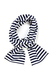 TASARAITA SCARF - white, dark blue