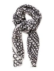 TYRSKY SCARF - white, black