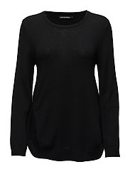 ELIISIA Knitted pullover - BLACK
