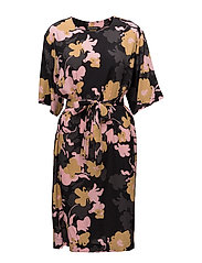 LIDIA HELOKKI Dress - BLACK, MUSTARD, PINK
